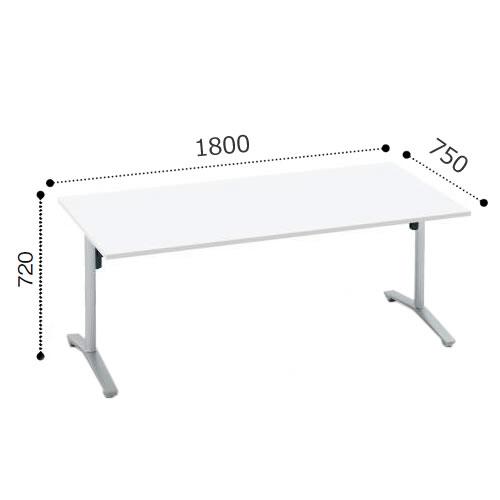 コクヨ VIENAビエナ シリーズ会議 ミーティング テーブル 天板固定T字脚アジャスタータイプ 角形天板 塗装脚 配線ボックスなし 幅1800奥行750ミリ MT-V187-E