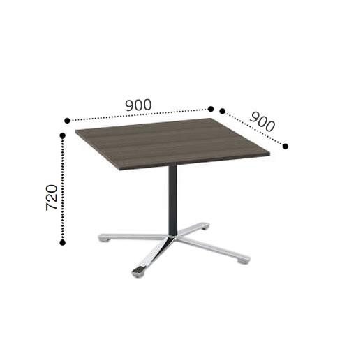 コクヨ VIENAビエナ シリーズ会議 ミーティング テーブル 天板固定単柱脚アジャスタータイプ 正方形天板 ポリッシュ脚 幅900奥行900ミリ MT-V99P-E