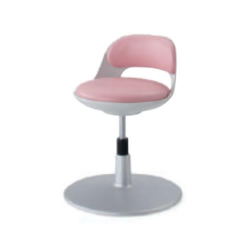 コクヨ 作業用イス 作業椅子 作業用チェア ココット cocotte サポートシェルタイプ ステップなし ホワイトシェル レザー張り 円盤脚 CR-CG542
