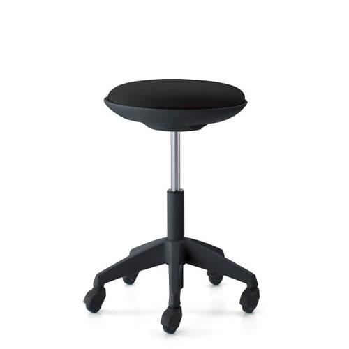 コクヨ 作業用イス 作業椅子 作業用チェア ココット cocotte ハイタイプ スツールタイプ ステップなし ブラックシェル 布張り キャスター脚 CR-FG540E6