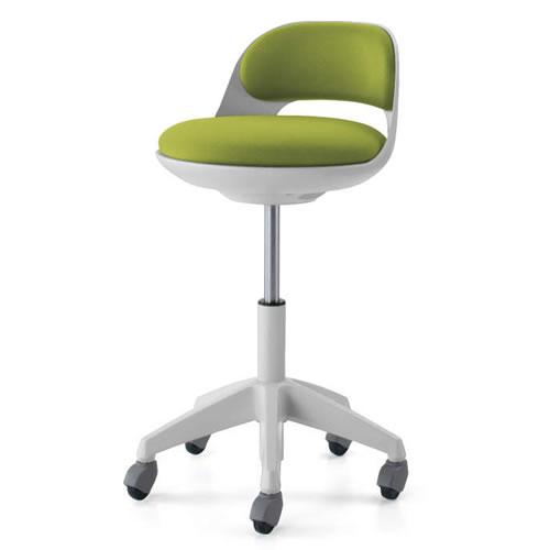 コクヨ 作業用イス 作業椅子 作業用チェア ココット cocotte ハイタイプ サポートシェルタイプ ステップなし ホワイトシェル 布張り キャスター脚 CR-FG542E1
