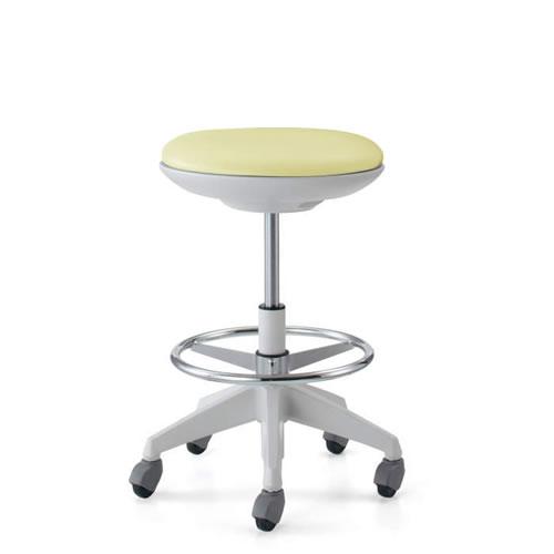 コクヨ 作業用イス 作業椅子 作業用チェア ココット cocotte ハイタイプ スツールタイプ ステップ付き ホワイトシェル レザー張り キャスター脚 CR-FGP540E1-