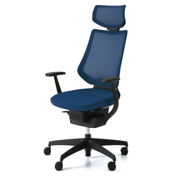 コクヨ イング ing オフィスチェア 背メッシュ ヘッドレスト付きタイプ ブラックシェル T型肘 樹脂脚ブラック CR-G3405E6