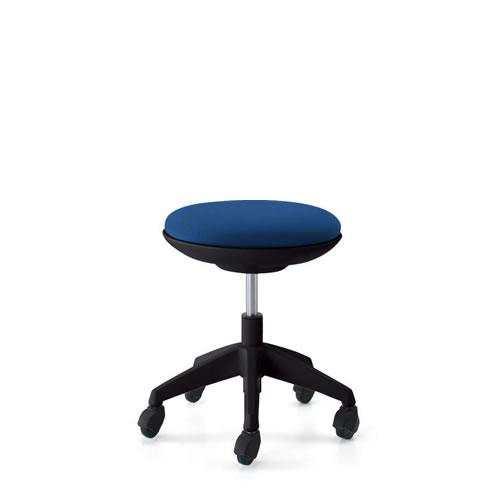 コクヨ 作業用イス 作業椅子 作業用チェア ココット cocotte ロータイプ スツールタイプ ブラックシェル 布張り キャスター脚 CR-G540E6