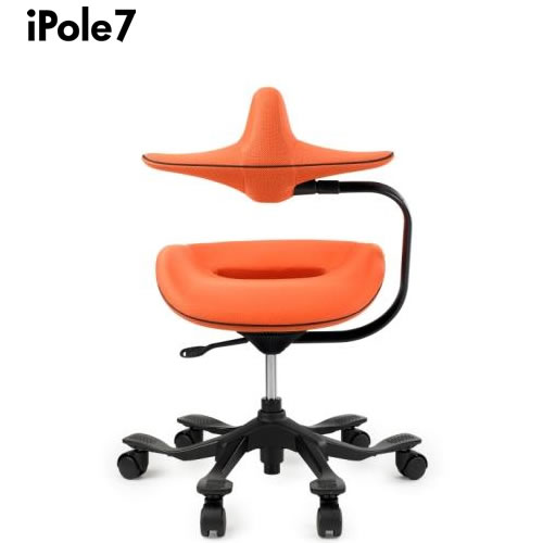 iPole7 ウリドゥルチェア アイポール7 オートロックキャスター ファブリック メッシュ オレンジMESH FABRIC ORANGE YK-J0030
