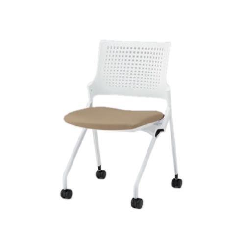 イトーキ 会議椅子 ミーティングチェア モノン チェア ネスタブルタイプ 樹脂メッシュバック 肘なし 背GB張地 布張り 棚なし ナイロン双輪キャスター付 KLD210GB