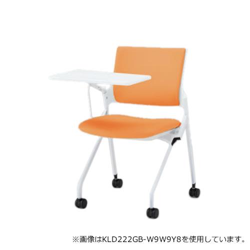 イトーキ 会議椅子 ミーティングチェア モノン チェア ネスタブルタイプ クロスバック メモ台付 背DL張地 ビニールレザー張り 棚付き ナイロン双輪キャスター付 KLD222DLR