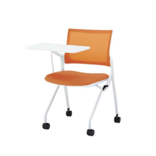 イトーキ 会議椅子 ミーティングチェア モノン チェア ネスタブルタイプ メッシュバック メモ台付 背JB張地 布張り 棚なし クロームメッキ脚 ナイロン双輪キャスター付 KLD232JB-Z9