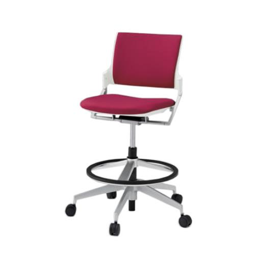 イトーキ 会議椅子 ミーティングチェア モノン チェア 回転脚ハイタイプ ガス上下調節 クロスバック 肘なし 背GB張地 布張り 抵抗付ウレタン双輪キャスター付 KLD280GB