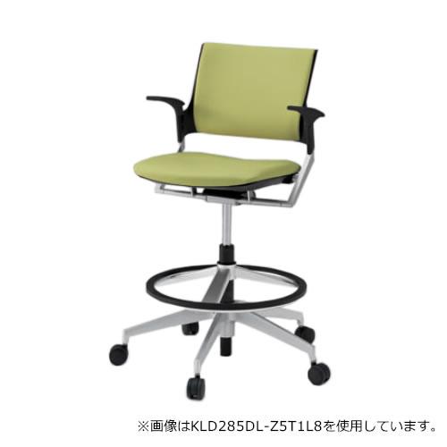 イトーキ 会議椅子 ミーティングチェア モノン チェア 回転脚ハイタイプ ガス上下調節 クロスバック 肘付き 背GB張地 布張り 抵抗付ウレタン双輪キャスター付 KLD285GB