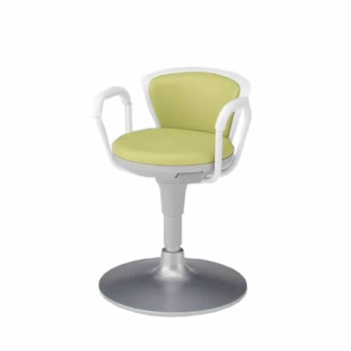 イトーキ サポートスツール2 背付きタイプ 肘付き 円盤脚 メディカルチェア 医療 椅子 患者用 病院 イス KSK-643