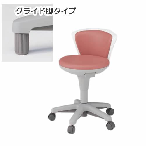 イトーキ サポートスツール2 背付きタイプ 肘なし グライド脚(固定脚) メディカルチェア 医療 椅子 患者用 病院 イス KSK-662
