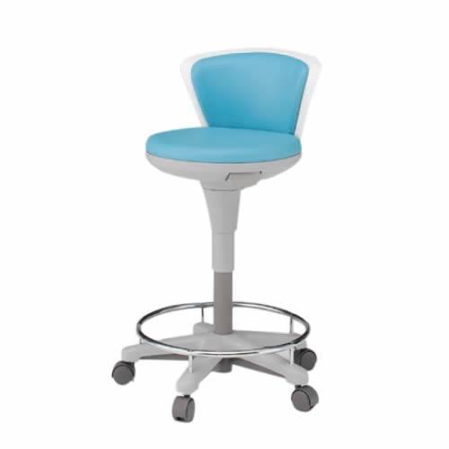 イトーキ サポートスツール2 背付きタイプ 足掛付き キャスター脚 メディカルチェア 医療 椅子 患者用 病院 イス KSK-670
