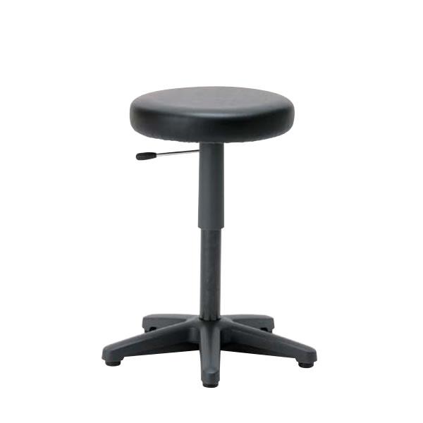 高作業用チェアー 立位作業用チェア 作業用イス 作業椅子 作業用椅子 ガス上下調節 固定脚 CA-43N