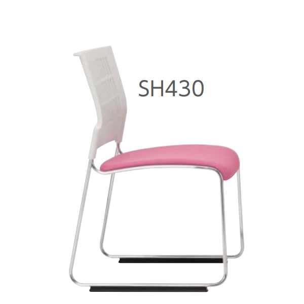 ミーティングチェア 椅子 会議チェア DYMETROL ダイメトロールスリットチェア SH430mm DS-43