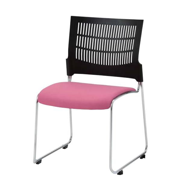 ミーティングチェア 椅子 会議チェア DYMETROL ダイメトロールスリットチェア 背ブラック DS-43B