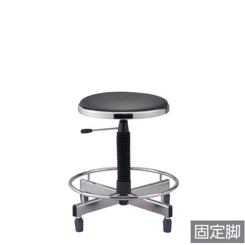 作業用チェア 作業椅子 作業用椅子 ガス上下調節 ゴム固定脚 足掛けリング付き 背付き TD-35LRN