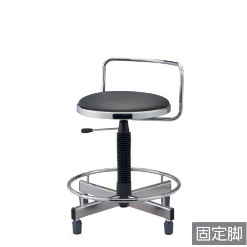 作業用チェア 作業椅子 作業用椅子 ガス上下調節 ゴム固定脚 足掛けリング付き TD-36LRN