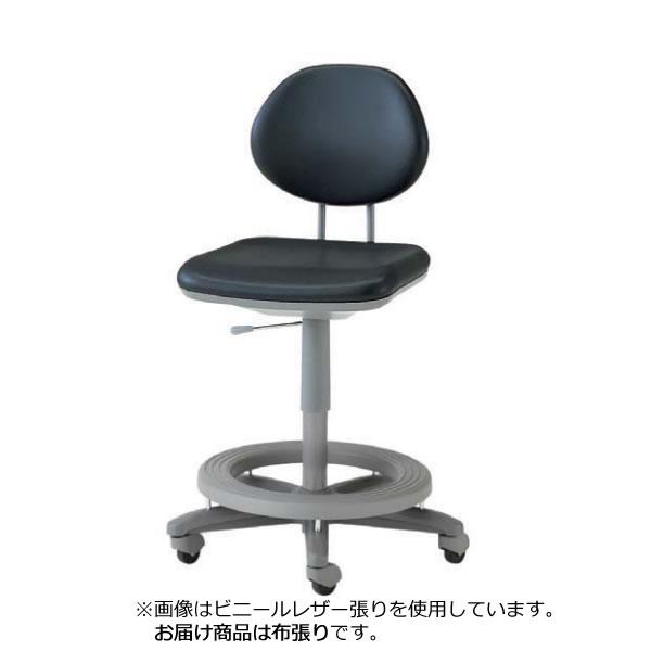 オフィスチェア カウンターチェア ステップ付チェア 作業用椅子 背付き キャスター付 ガス上下調節 布張り TEL-SD6C-ST