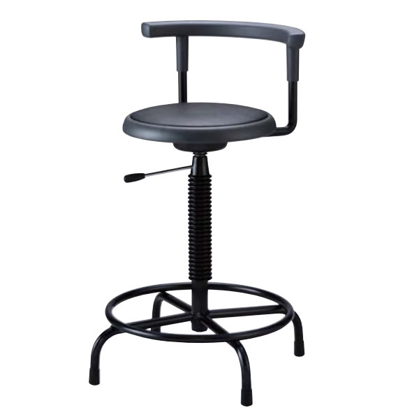 高作業用チェアー 作業用チェア 作業椅子 作業用椅子 ガス上下調節 固定脚 背もたれ付き TF-H22L
