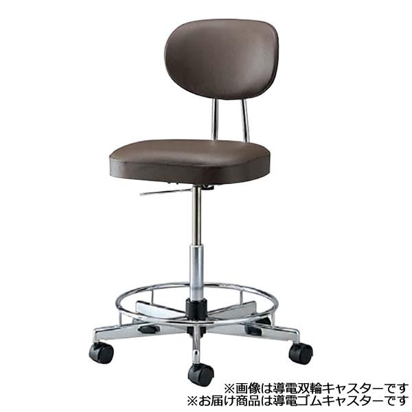 導電チェア 導電チェアー 作業用チェア 作業チェア 作業用椅子 ガス上下調節 オフィスチェア 導電ゴムキャスター リング付き TL-EG17L