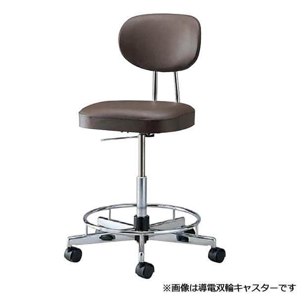 導電チェア 導電チェアー 作業用チェア 作業チェア 作業用椅子 ガス上下調節 オフィスチェア 導電双輪キャスター リング付き TL-EH17L