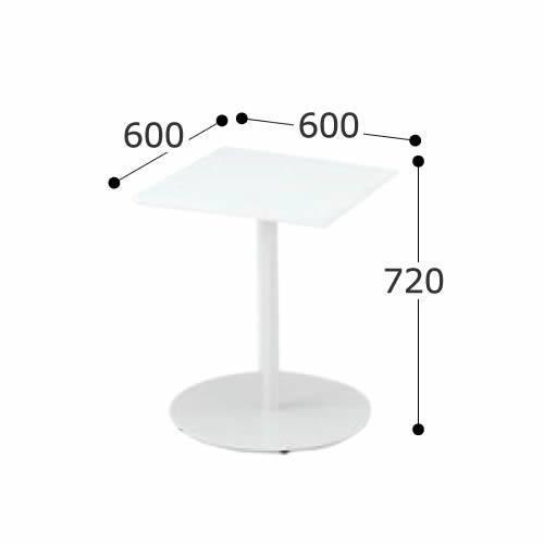 イトーキ ミーティングテーブル RAシリーズ テーブル 角型 高さ720mmタイプ 幅600×奥行600mm TRA-066LH