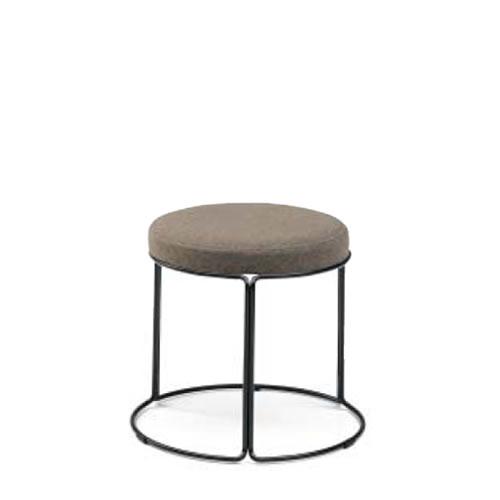 コクヨ 丸いす 会議椅子 CK-750シリーズ ロースツール 高さ36cm リング脚(塗装) 布張り 固定脚 丸椅子 丸イス スツール CK-751