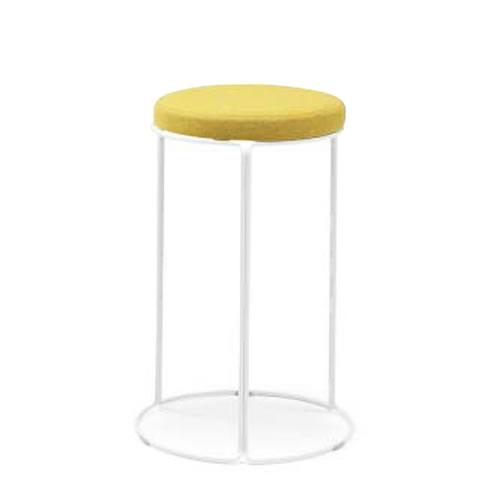 コクヨ 丸いす 会議椅子 CK-750シリーズ ミドルハイスツール 高さ62cm リング脚(塗装) 布張り 固定脚 丸椅子 丸イス スツール CK-752
