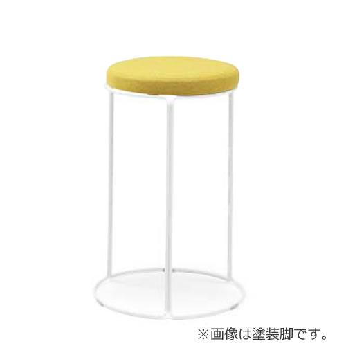 コクヨ 丸いす 会議椅子 CK-750シリーズ ミドルハイスツール 高さ62cm リング脚(メッキ) 布張り 固定脚 丸椅子 丸イス スツール CK-M752
