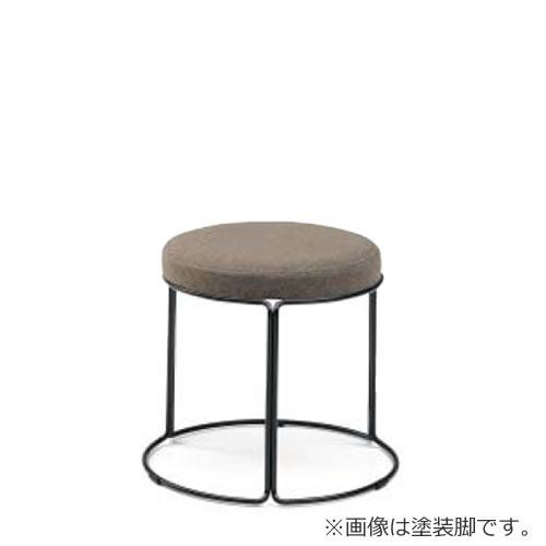 コクヨ 丸いす 会議椅子 CK-750シリーズ ロースツール 高さ36cm リング脚(メッキ) 布張り 固定脚 丸椅子 丸イス スツール CK-M751