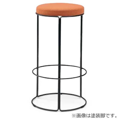 コクヨ 丸いす 会議椅子 CK-750シリーズ ハイスツール 高さ72cm リング脚(メッキ) 布張り 固定脚 丸椅子 丸イス スツール CK-M753