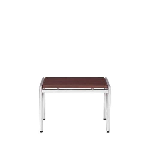 【個人宅配送不可】 アイコ 応接 コーナーテーブル クロームメッキ仕上げ脚 W665 正方形タイプ CT-620