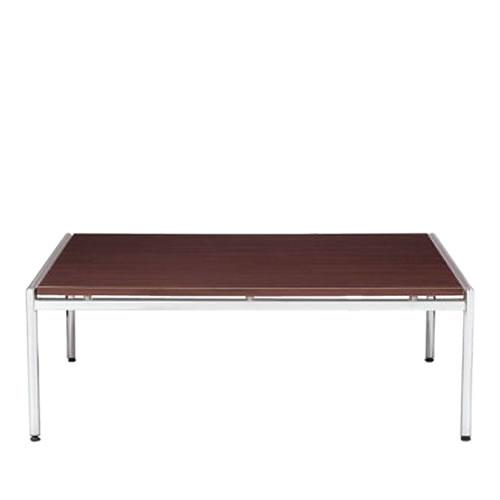【個人宅配送不可】 アイコ 応接 センターテーブル クロームメッキ仕上げ脚 W1265 正方形タイプ CT-650