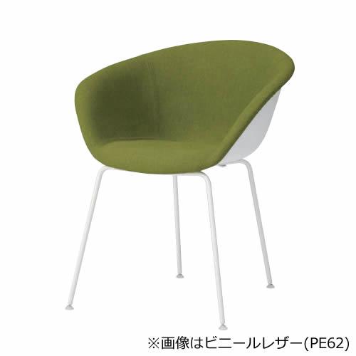 オカムラ ミーティングチェア arper DUNA02 デュナ02 ホワイト脚 背・座パッドタイプ(布/ビニールレザー) 4本脚 肘付き 会議イス 会議チェア 会議椅子 椅子 チェア チェアー L493FD