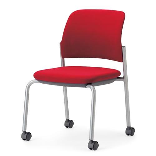【個人宅配送不可】 アイコ ミーティングチェア 椅子 会議チェア 肘なし キャスター脚 MC-533