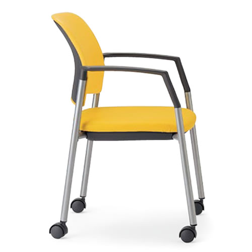 【個人宅配送不可】 アイコ ミーティングチェア 椅子 会議チェア 肘付き キャスター脚 MC-534