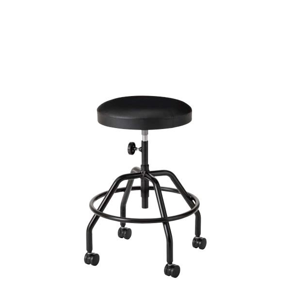 高作業用チェア 作業椅子 作業用椅子 丸椅子 丸イス スツール 手動上下調節 塗装脚 ビニールレザー張り TG-B6