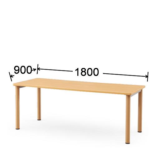 【個人宅配送不可】 アイコ 会議用テーブル 塗装脚タイプ アジャスター付 W1800 D900 NST-1890