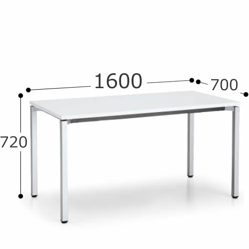 コクヨ デスク デルフィ2 スタンダードテーブル 幅1600×奥行700×高さ720 SD-DJ167