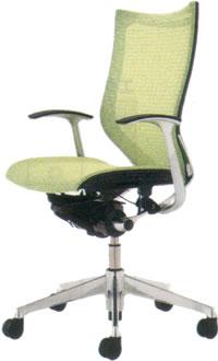 オカムラ バロン チェア ハイバック デザインアーム ポリッシュフレーム座メッシュCP45AR, 須木村 145dca1c