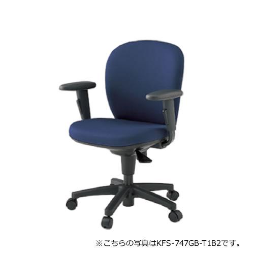 イトーキ 椅子 リエット チェアー 事務チェアー オフィスチェアー 事務椅子 ローバック アジャスタブル肘 防炎布地(GE) ナイロン双輪キャスター付 KFS-747GE