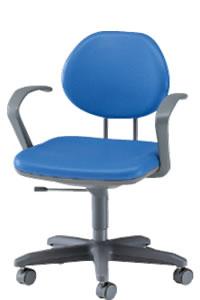 オフィスチェアー オフィスチェア 椅子 固定肘付ビニルレザー張りNOTEL-S6AL