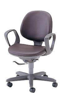 オフィスチェアー オフィスチェア 椅子 フリーシンクロ ロッキング チェアー 固定肘付 ハイバック ビニルレザー張り NOTFS-8AL