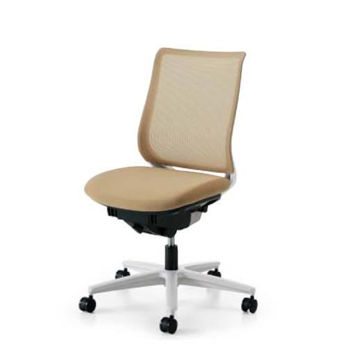 コクヨ オフィスチェア ミトラ チェア メッシュタイプ スタンダードバック 肘なし ランバーサポート付き 樹脂脚(ホワイト/クリーンテクトコーティング) ナイロンキャスター CR-GW2920