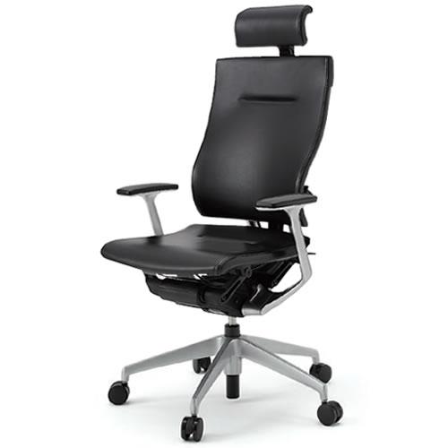 イトーキ オフィスチェア スピーナ エクストラハイバック レザータイプ T型肘 塗装脚タイプ 背座/革張り ナイロン双輪キャスター KE-725LA-Z5T1