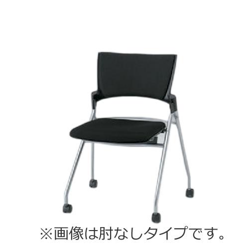 イトーキ ミーティングチェア 会議椅子 マノス チェア マルチスタッキングタイプ 肘なし 抗菌加工布張り(PG) ナイロン双輪キャスター付 KLD-310PGS