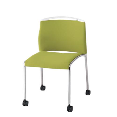 イトーキ ミーティングチェア 会議椅子 スタッキングチェア U-1 クロスバック 再生布地/ビニールレザー張り キャスター脚【スタッキング不可】 KLU-150