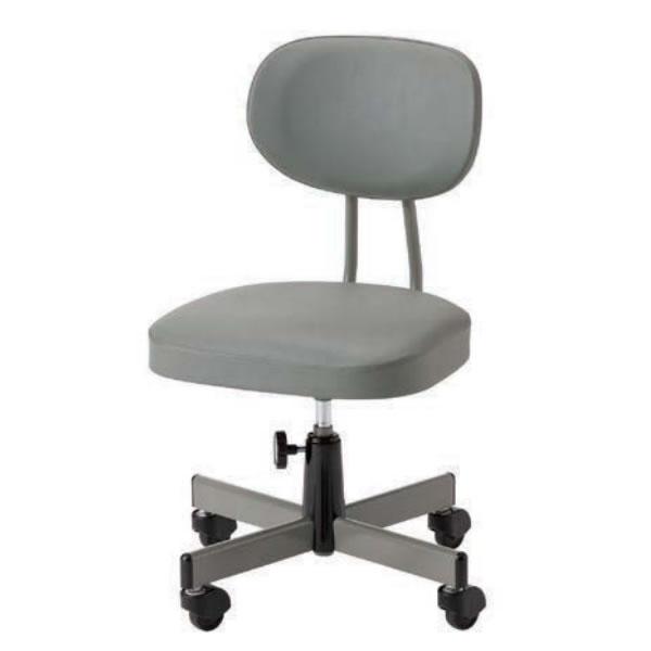 オフィスチェア 事務椅子 G法対応チェア 肘なし 手動上下調節 キャスター付き TN-160