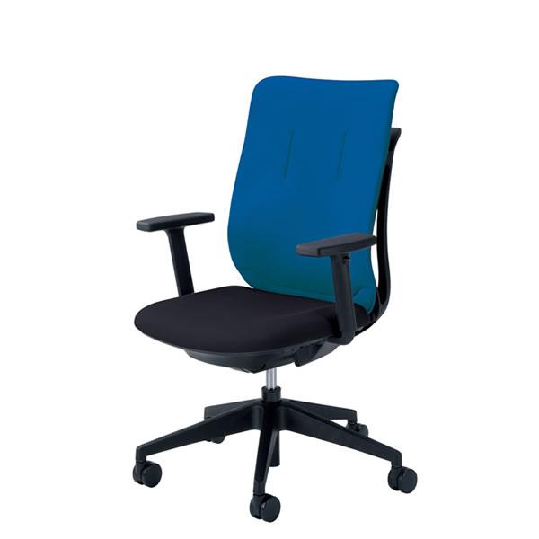 内田洋行 オフィスチェア 事務用チェア 事務椅子 エージェイ チェア アジャスタブル肘 背クロスタイプ ツートンタイプ 座ブラック AJA-320BT